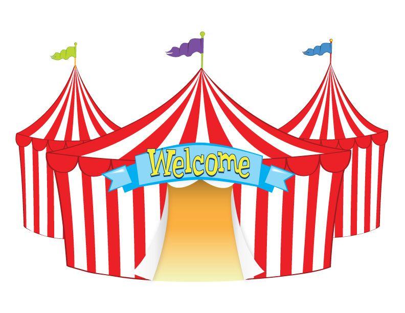Tent welcome funfair pinterest. Circus clipart fair