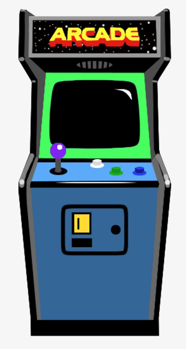 Game machine video room. Arcade clipart cartoon