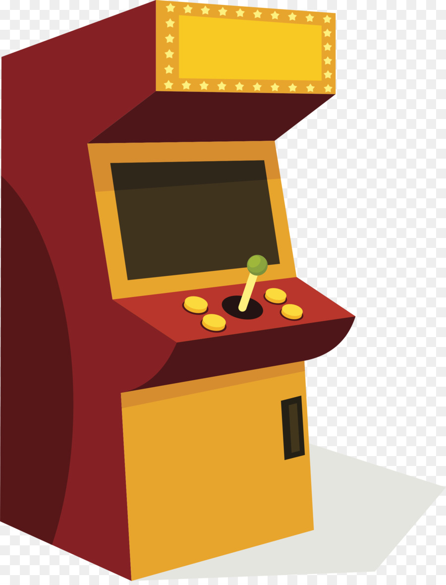 Table game yellow product. Arcade clipart cartoon