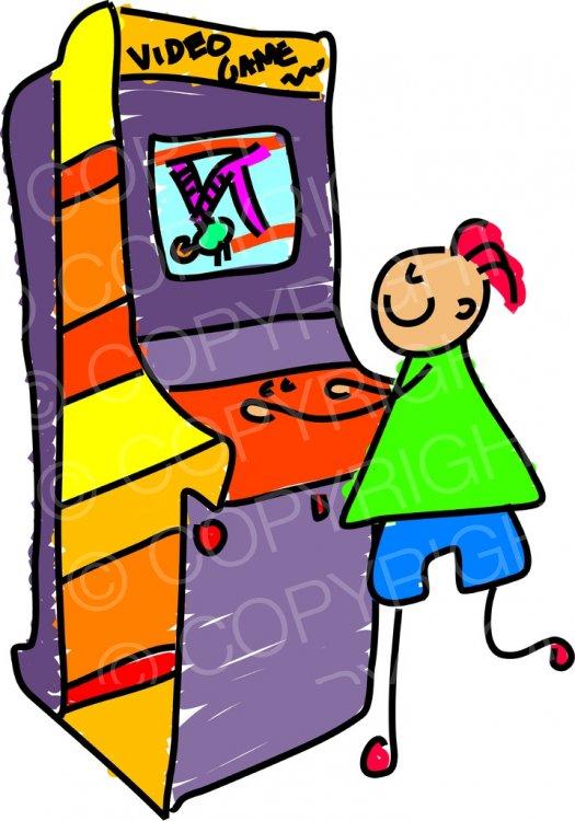 Arcade clipart cartoon. Toddler art video game