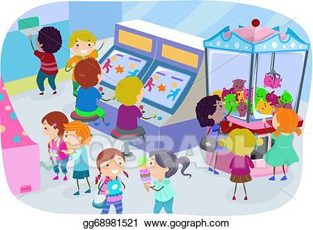 Arcade clipart clip art. Vector stock kids gg