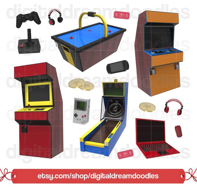 Arcade clipart clip art. Video game image controller