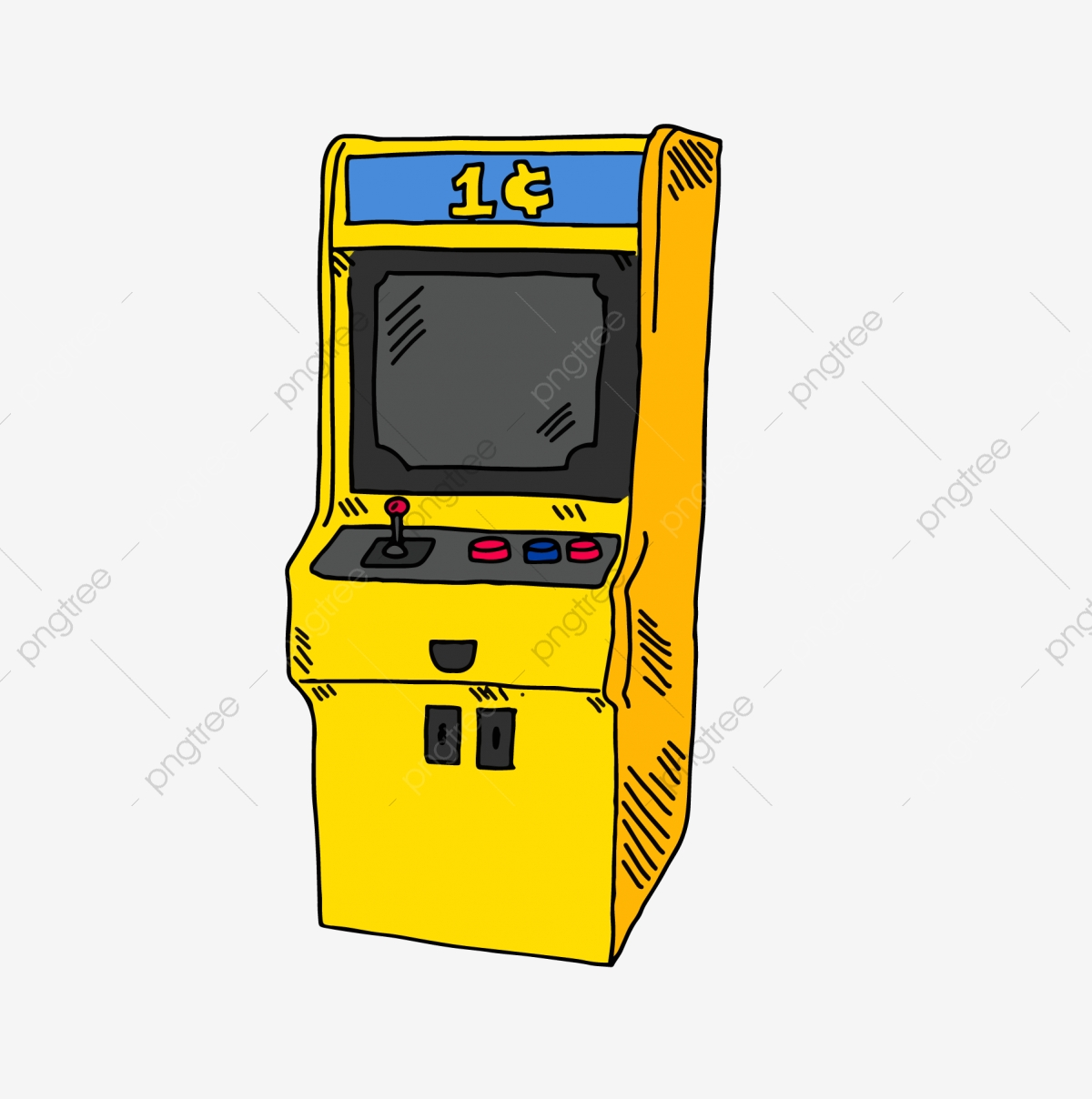 Arcade clipart game console. Warm color child toy