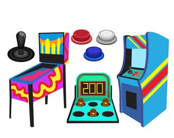 Video clip art etsy. Arcade clipart game console