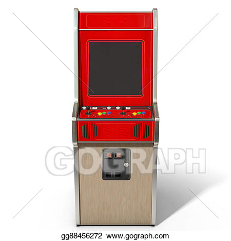 Stock illustration vintage machine. Arcade clipart game console