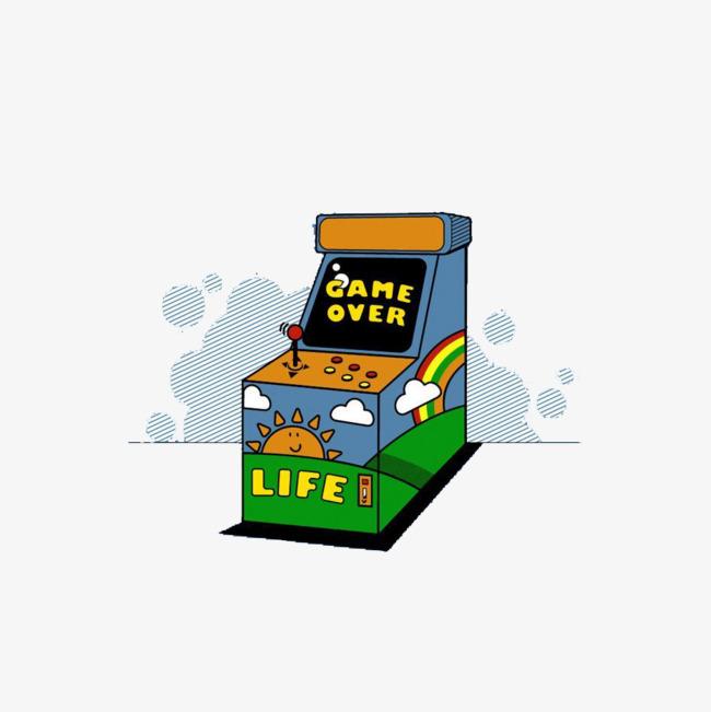 Arcade clipart game over. The cartoon failed failure
