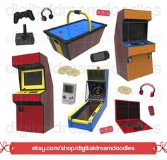 A young girl playing. Arcade clipart game zone