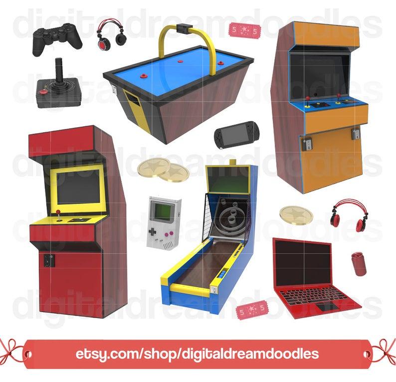 Video game clip art. Arcade clipart gaming