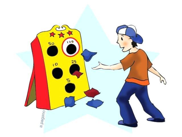Arcade clipart kids carnival. Bean bag toss air