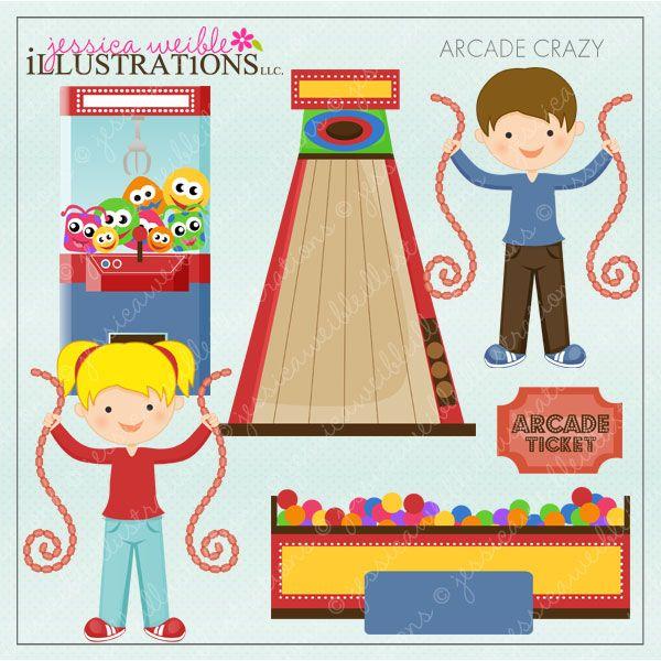 Crazy cliparts mygrafico com. Arcade clipart kids carnival
