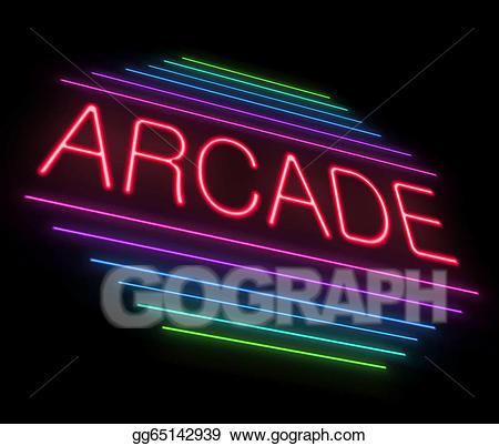 Stock illustration illustrations. Arcade clipart neon sign
