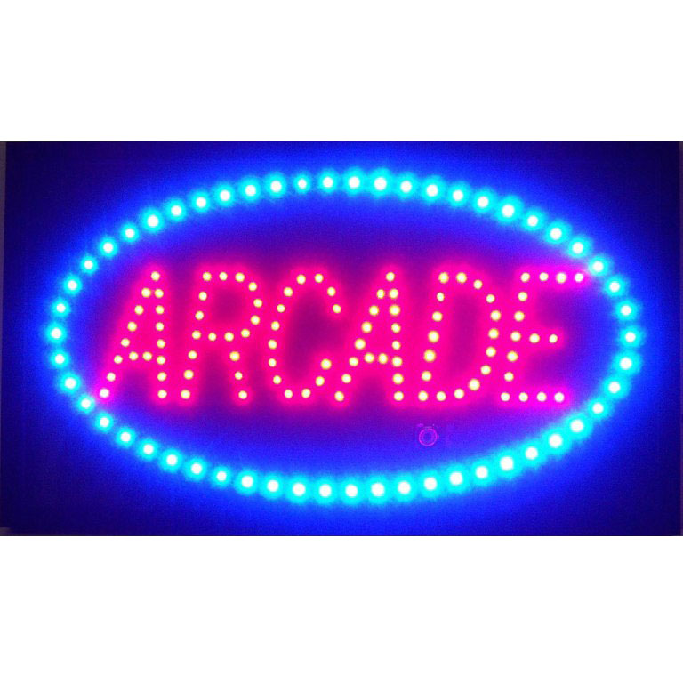 Led by neonetics arled. Arcade clipart neon sign