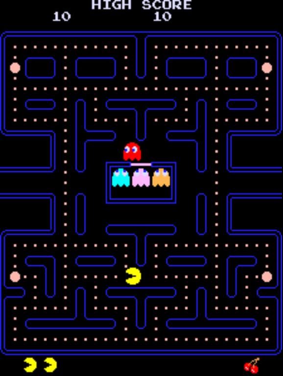 Pac man and original. Arcade clipart pacman game