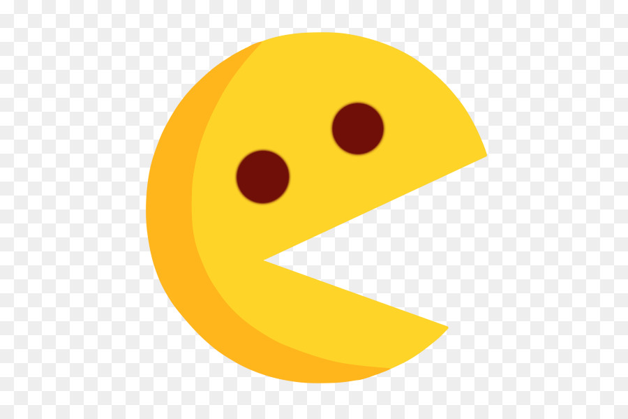 Smiley yellow text messaging. Arcade clipart pacman game