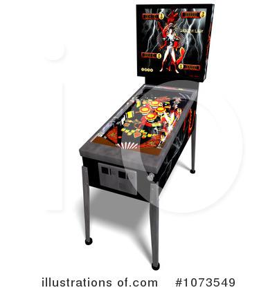 Illustration by ralf royaltyfree. Arcade clipart pinball
