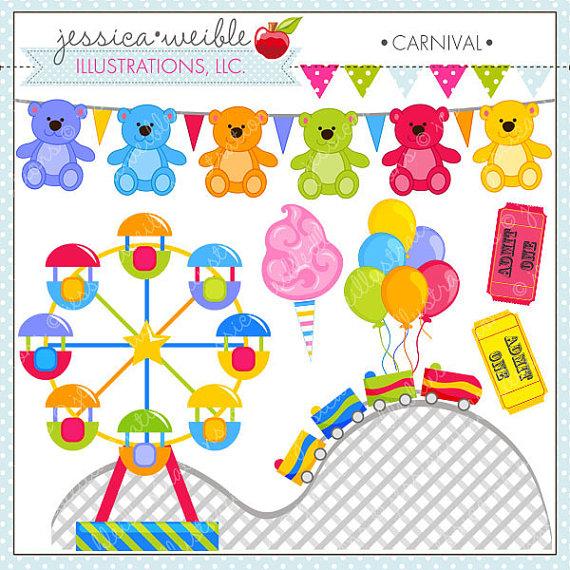 Carnival cute amusement park. Arcade clipart prizes