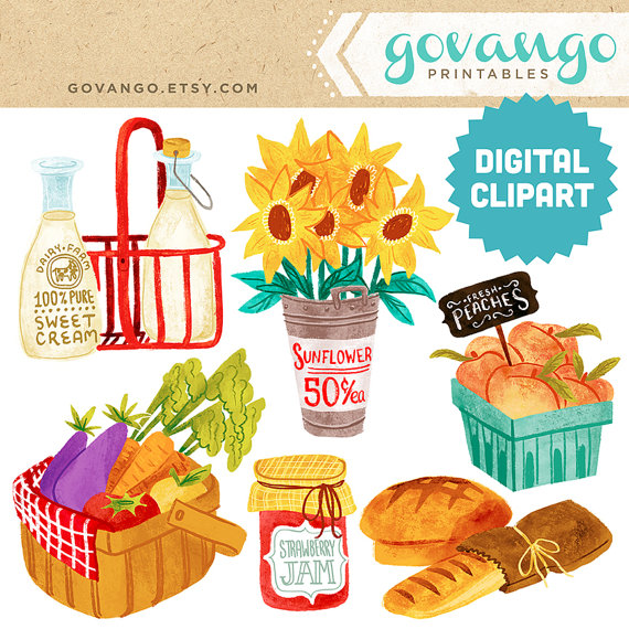 Farmer s market digital. Arcade clipart raffle basket