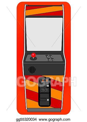 Arcade clipart retro arcade. Eps vector classic cabinet