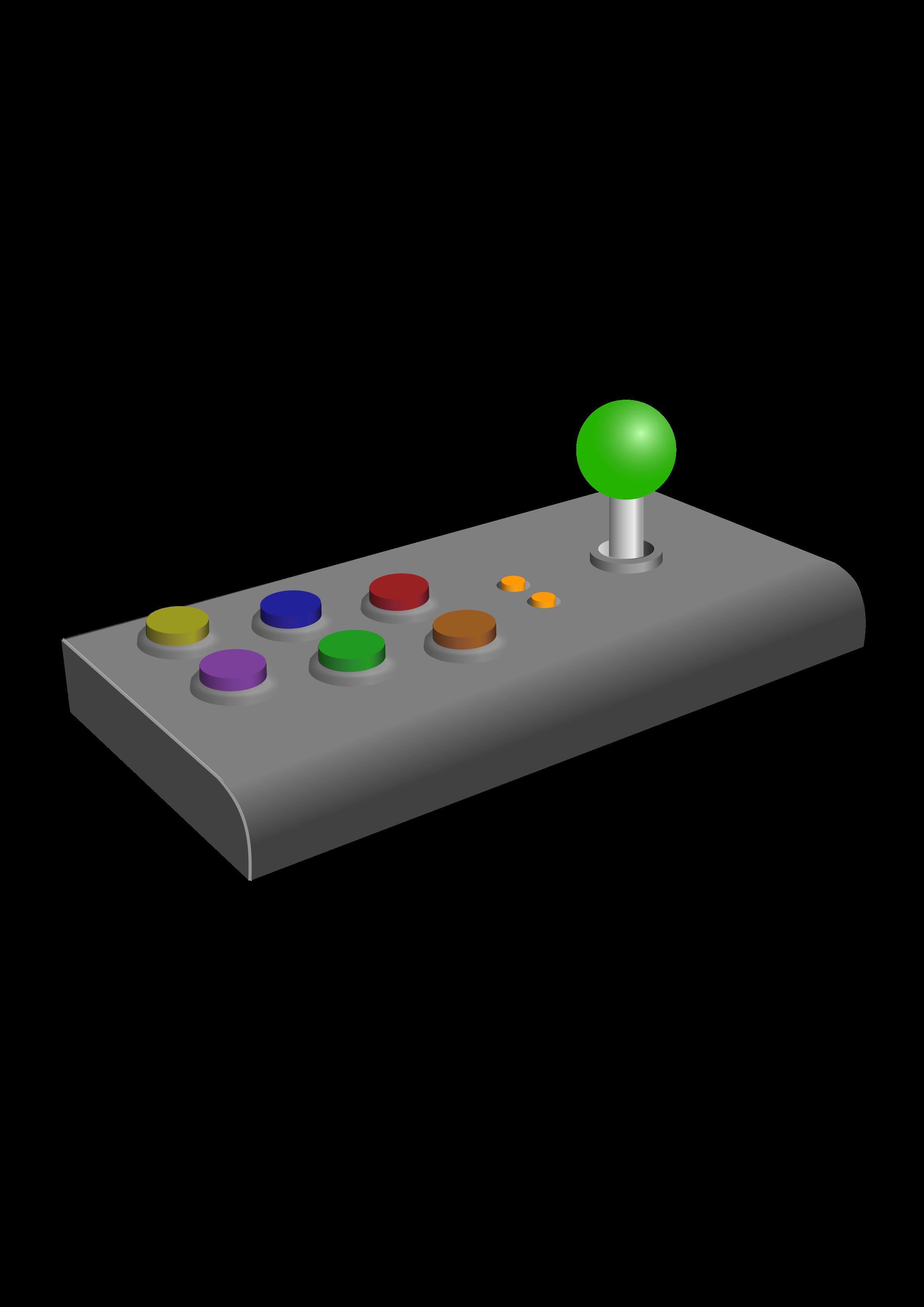 Electronics clipart controller. Retro arcade joystick big