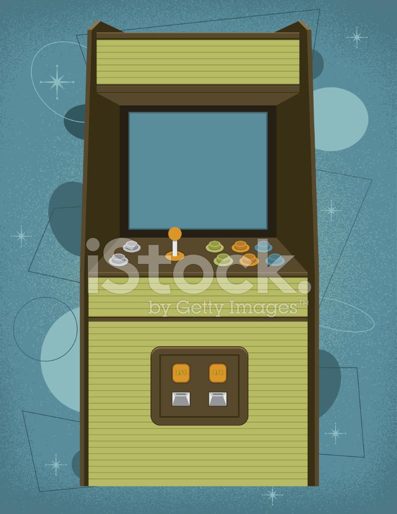 Arcade clipart retro arcade. Machine stock vector freeimages