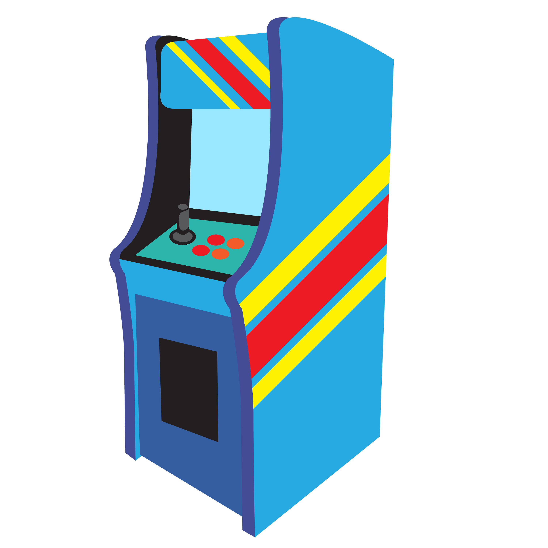 Game vectors pinball clip. Arcade clipart retro arcade