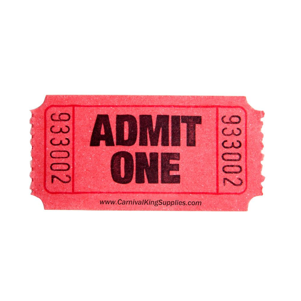 Arcade clipart roll ticket. Carnival king red part