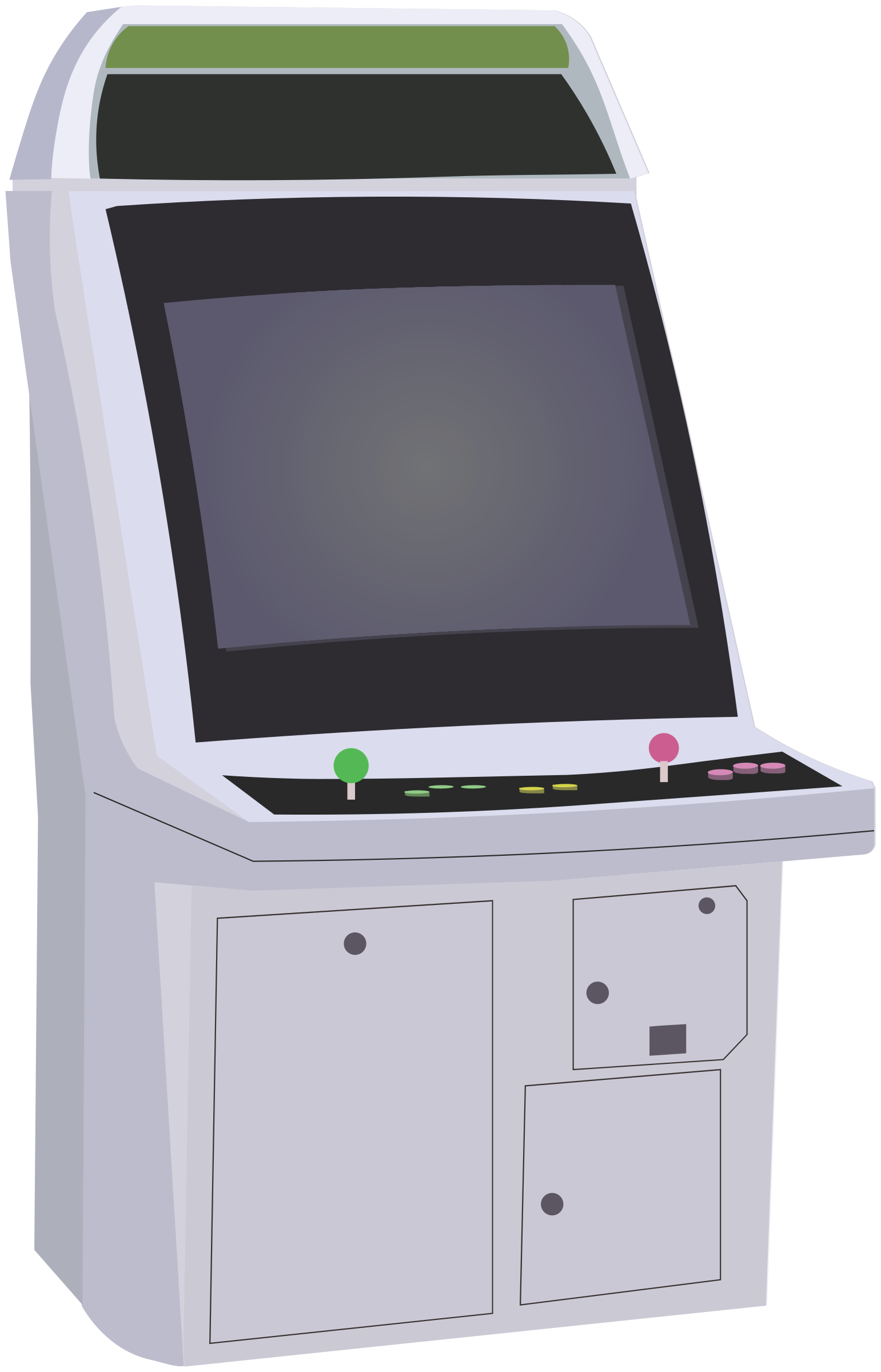 Video machine big image. Game clipart arcade