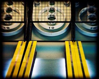 Arcade clipart skeeball. Etsy game photography yellow