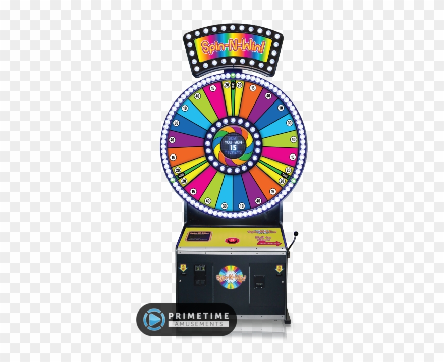 Spin n win by. Arcade clipart skeeball