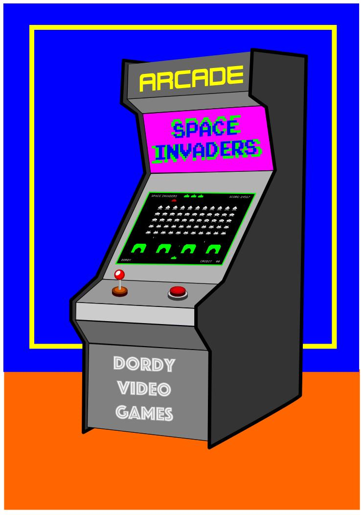 Video games design droide. Arcade clipart svg