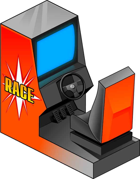 Arcade clipart svg. Racing game recreation games
