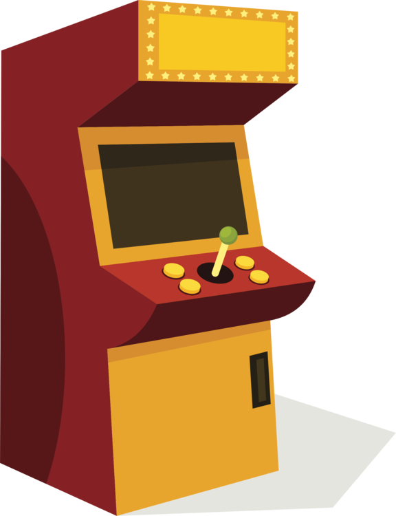 Angle yellow desk png. Arcade clipart svg