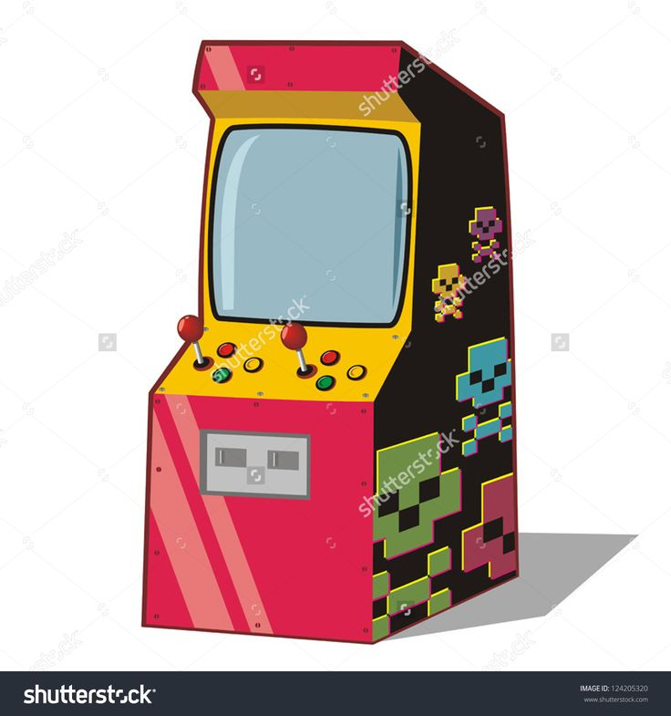 Arcade clipart video arcade.  best s throwback