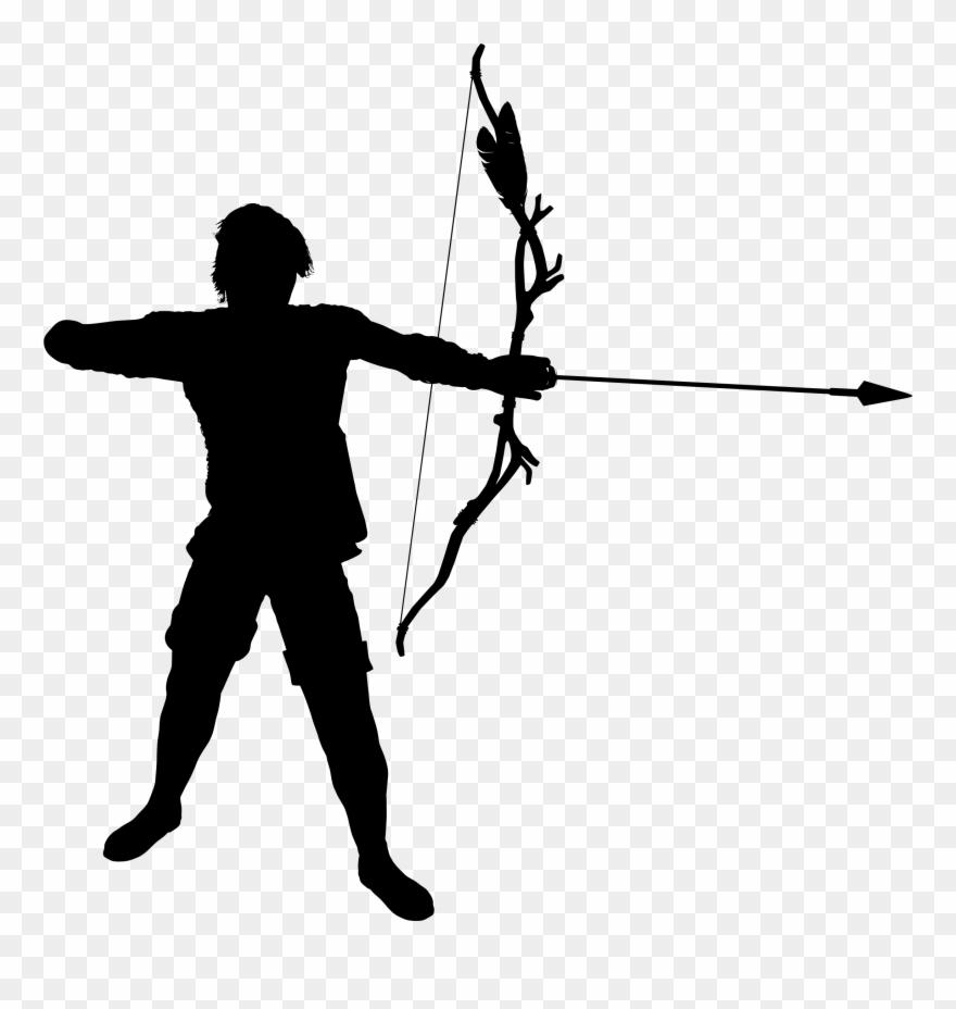Archer clipart. Image transparent warrior silhouette