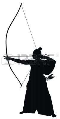 Vector illustration of japanese. Archery clipart abstract