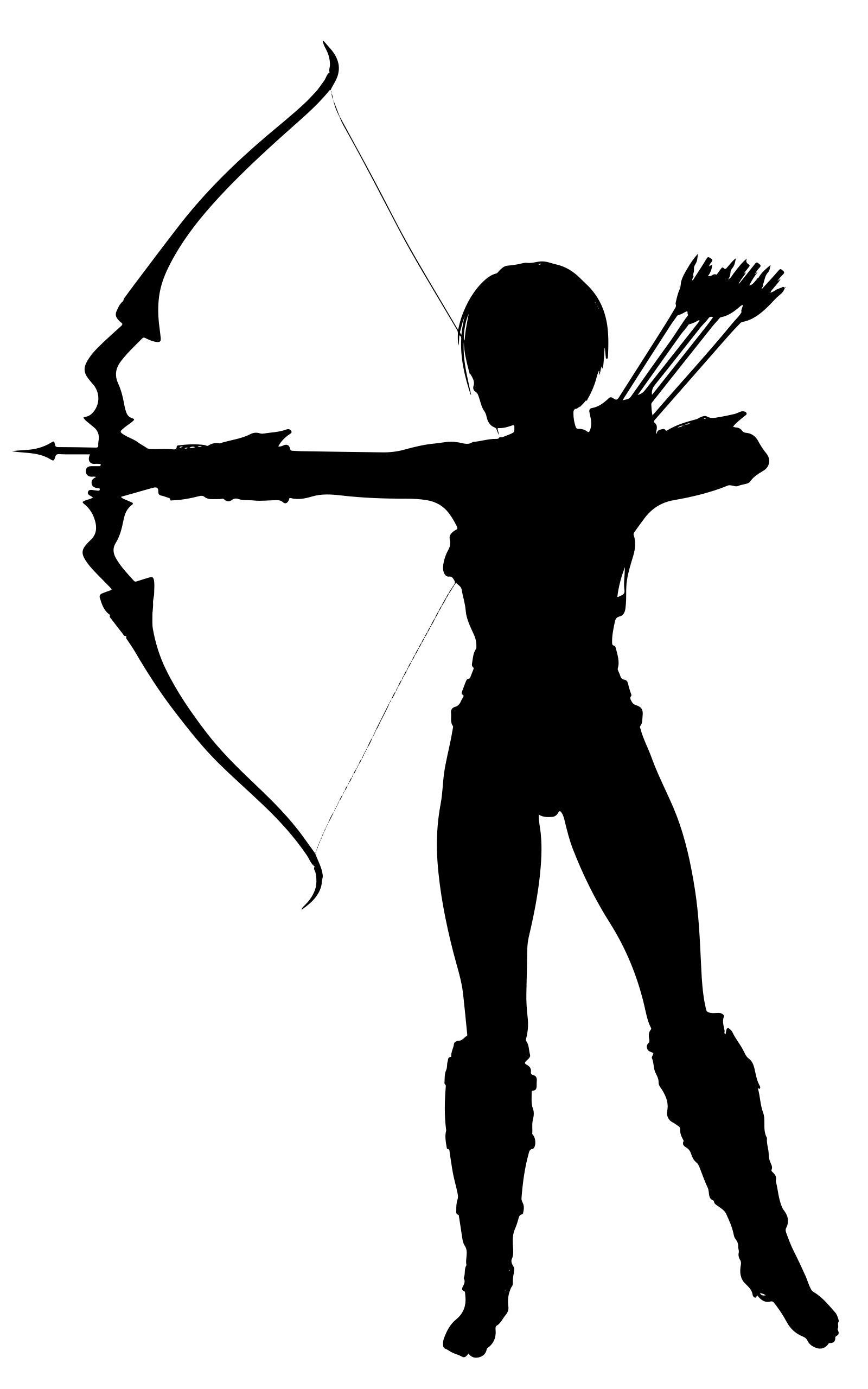 Amazon archer design droide. Archery clipart silhouette