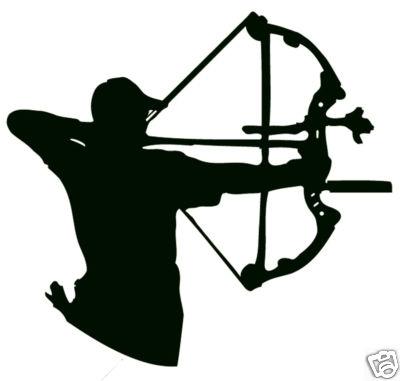 Arctec stickers aim compound. Archer clipart archery bow