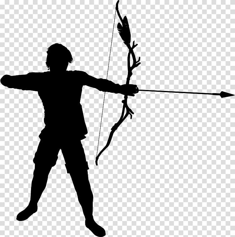 Archer clipart archery bow. Silhouette transparent background png
