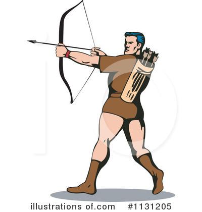 Illustration by patrimonio royaltyfree. Archery clipart man