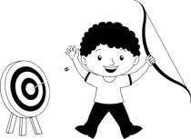Search results for target. Archer clipart black and white