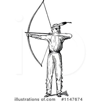 Archery illustration by prawny. Archer clipart black and white