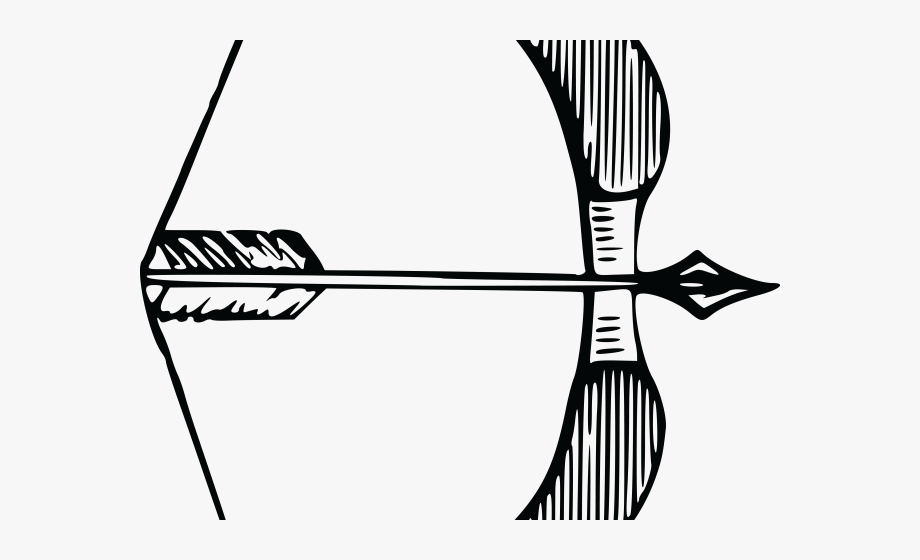 Archery dhanush bow . Archer clipart black and white