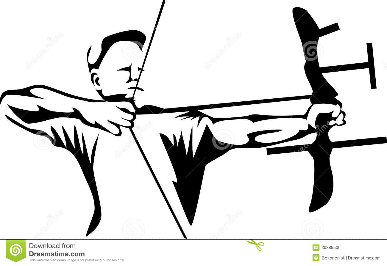 Archery station . Archer clipart black and white
