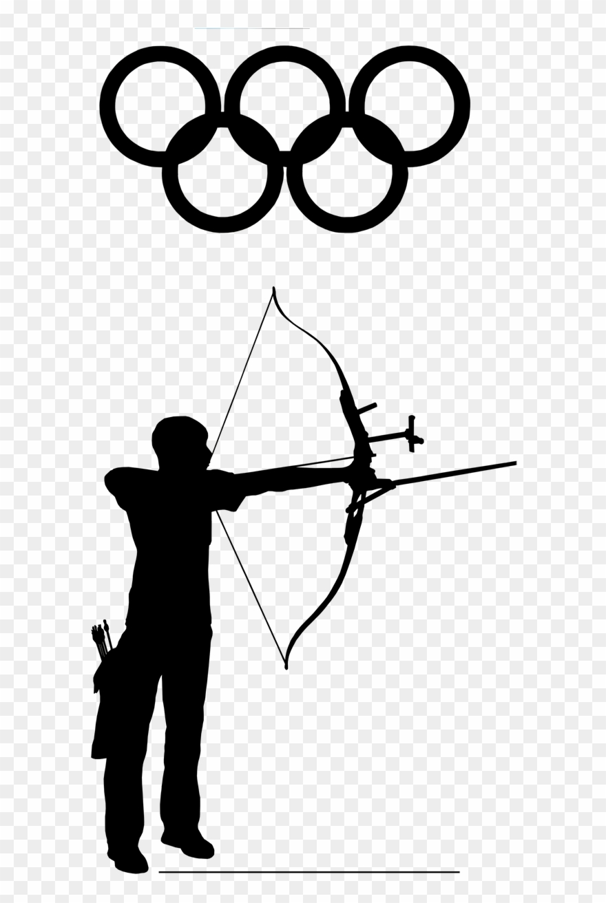Archer clipart black and white. Archery olympic sport png