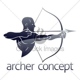 Archer clipart bowman. Strong with bow and