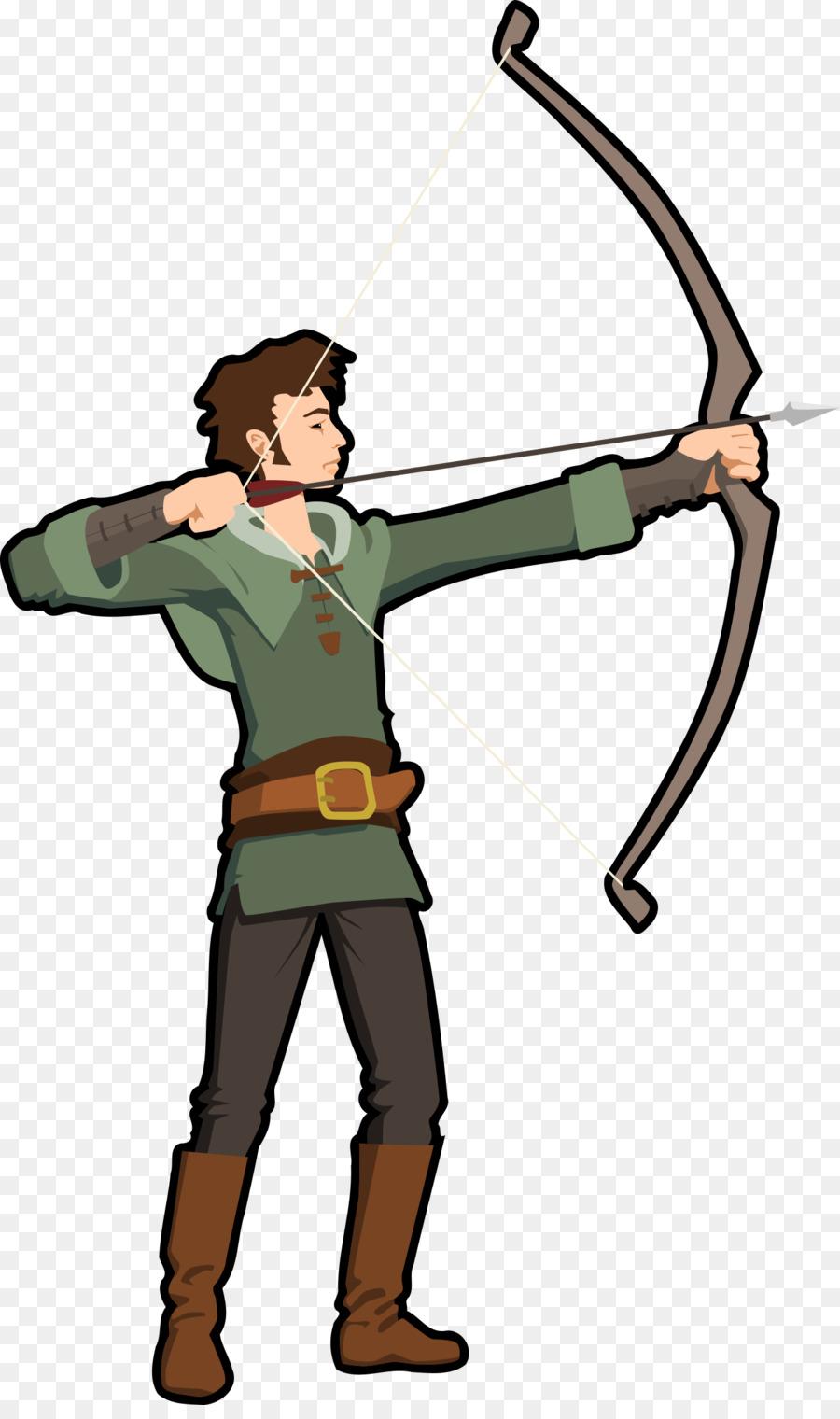 Archery clipart cartoon. Bow and arrow illustration