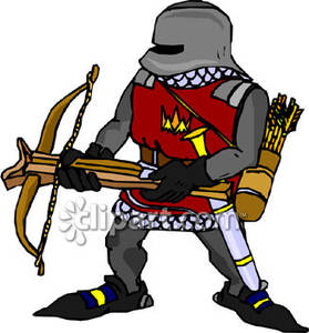 Archer knight with a. Archery clipart cross bow