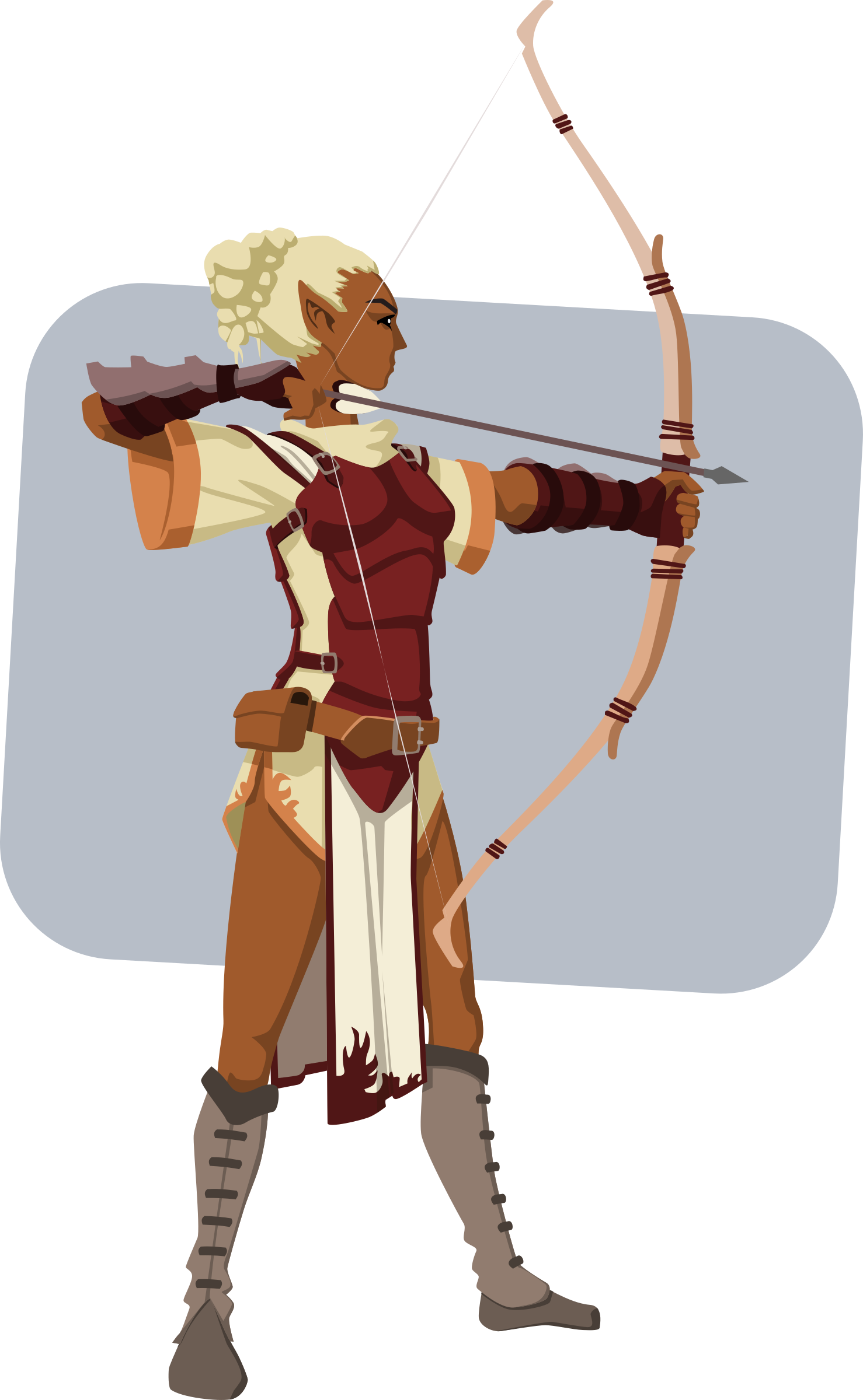 Elven archer big image. Warrior clipart sport