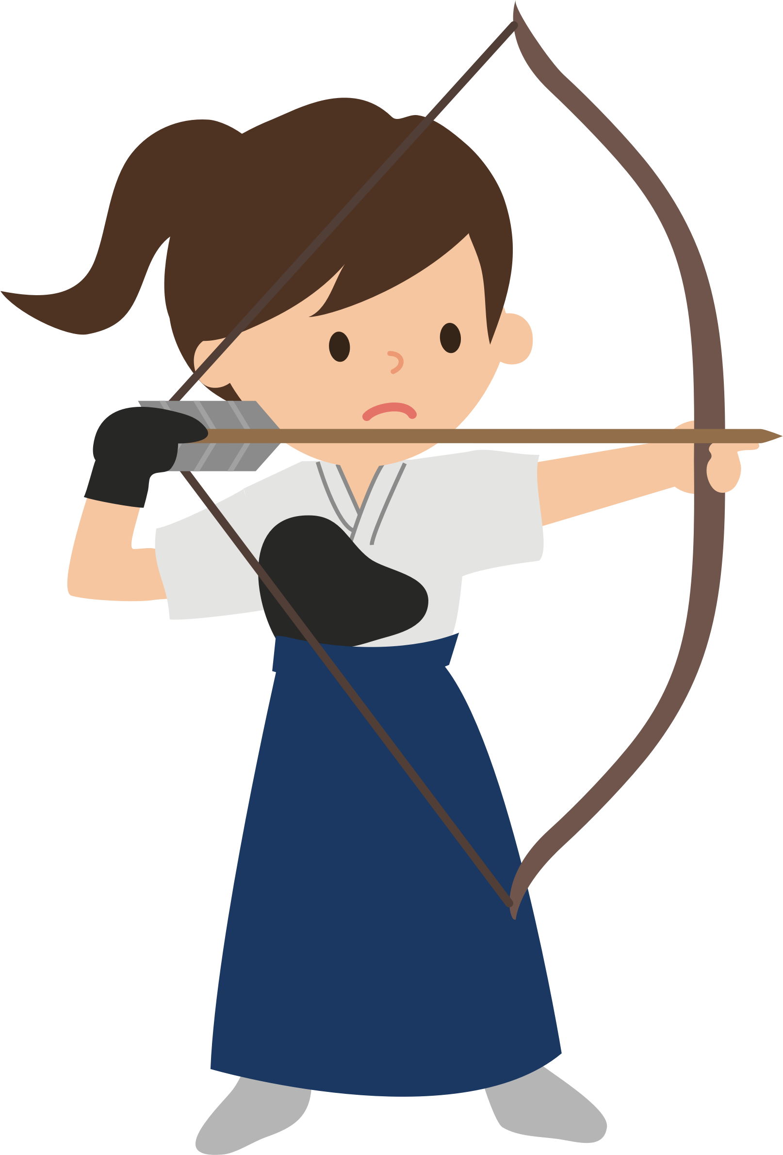 Female archer big image. Girl clipart archery