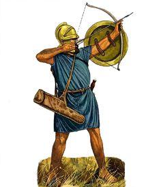 Archer clipart greek archer. A cretan these toxotai